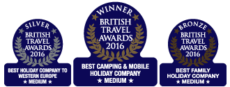 British Travel Awards Canvas Holidays