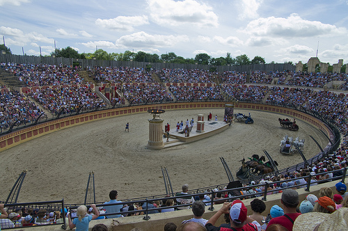 Amphitheatre with chariot race at Puy du Fou