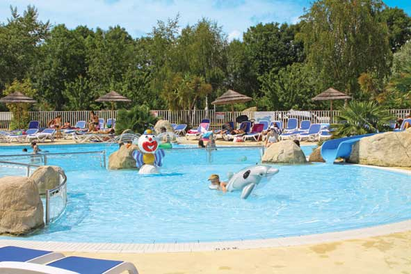 camping les deux fontaines, south brittany