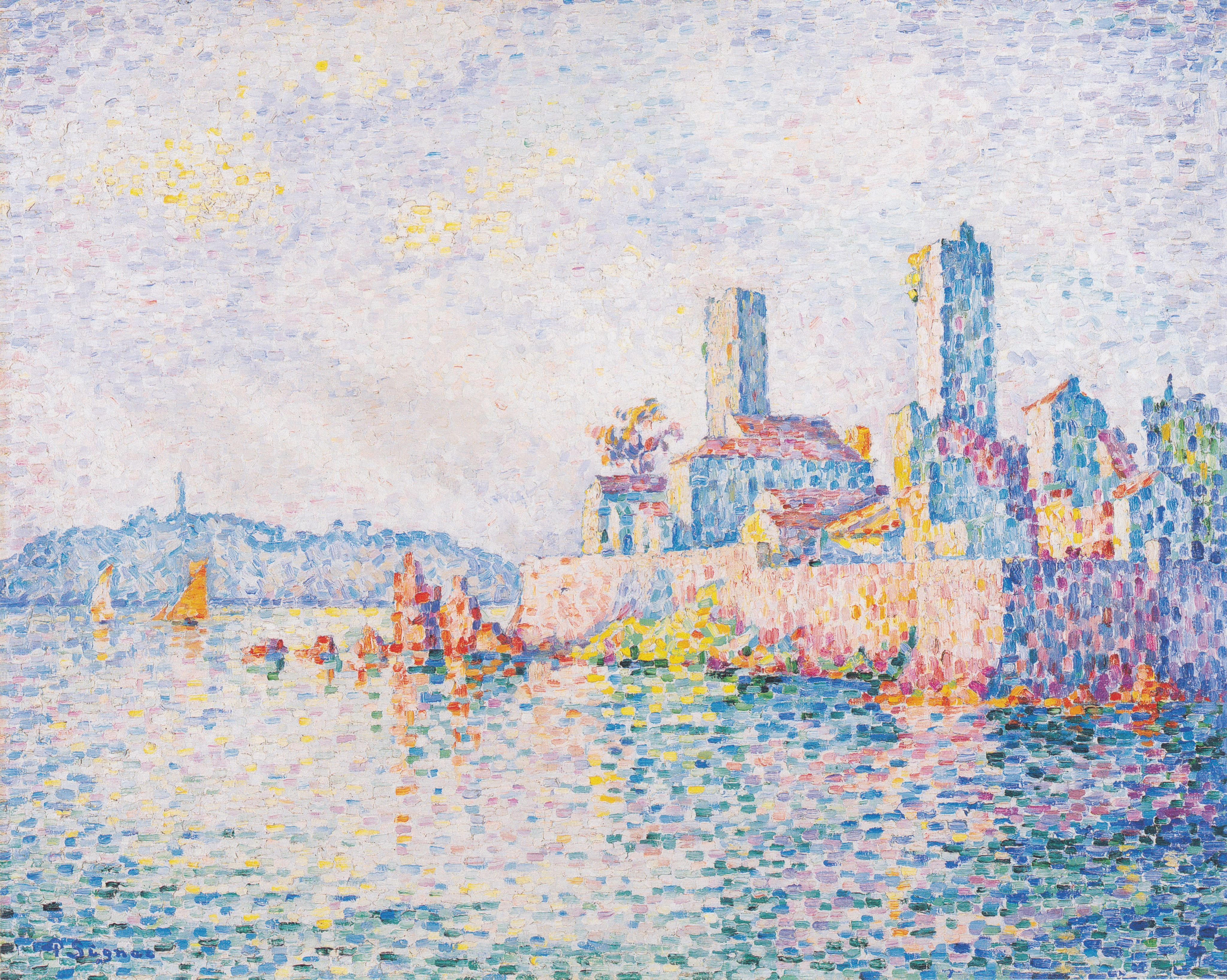 Antibes, the towers, Paul Signac