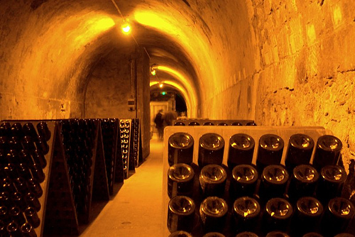 In the Tattinger cellars