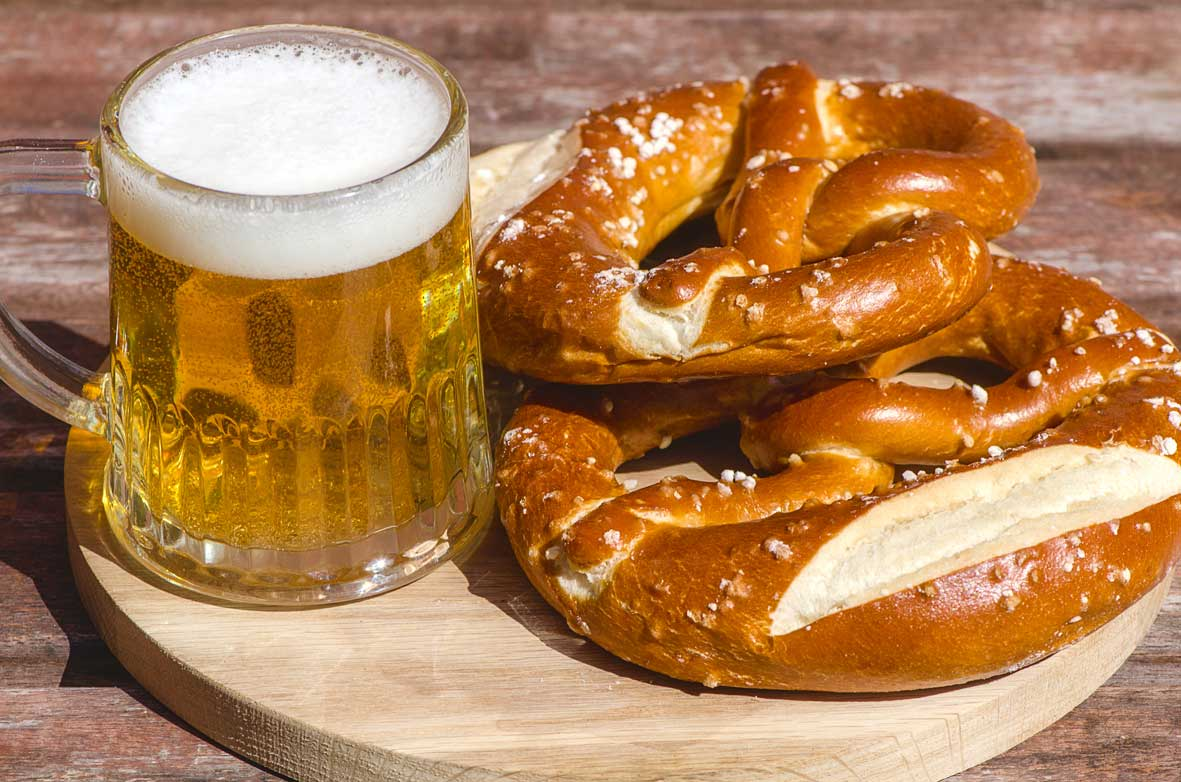 German-beer-and-pretzels