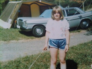 This is me circa 1977.  Oh those shiny shorts.