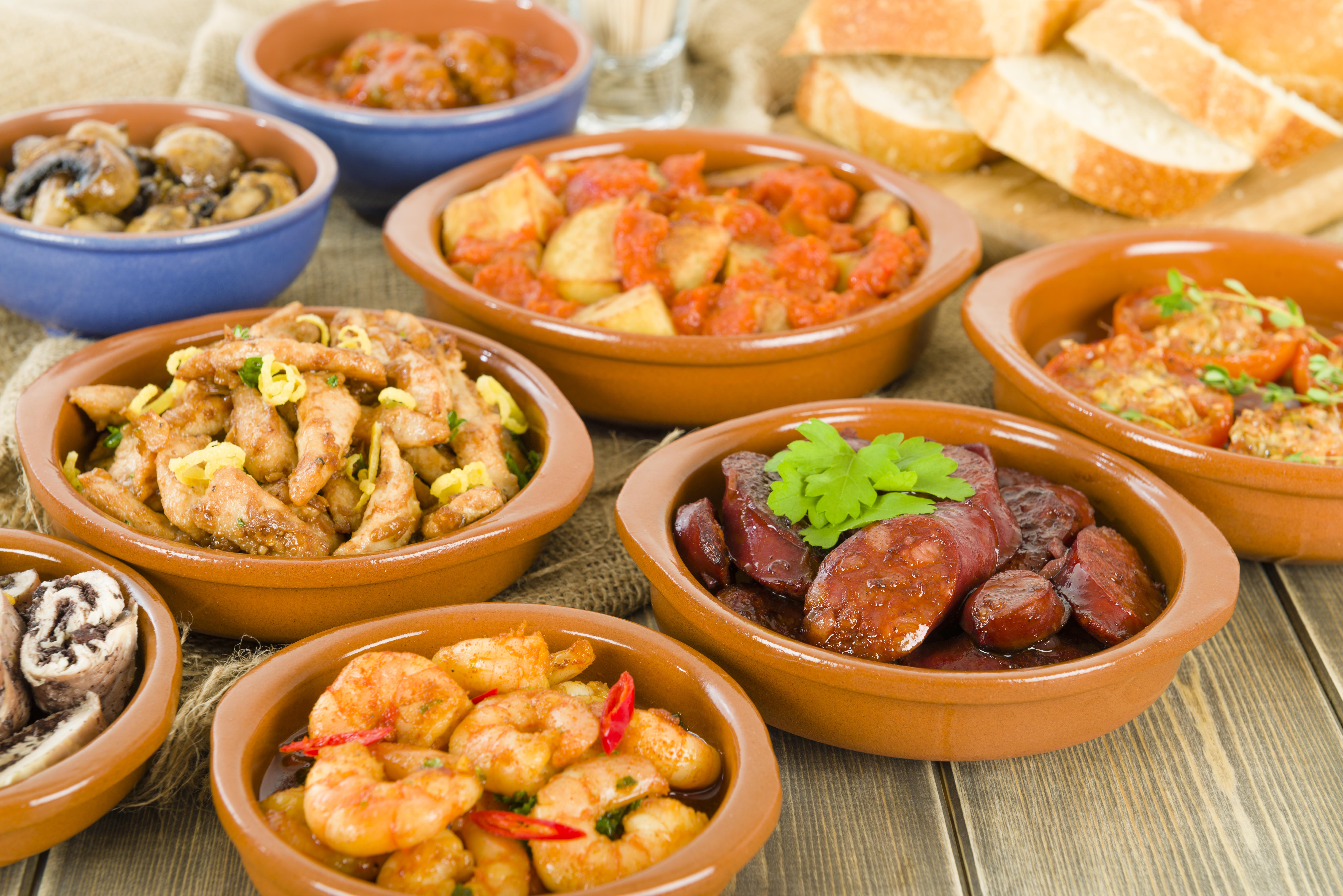Tapas with bread