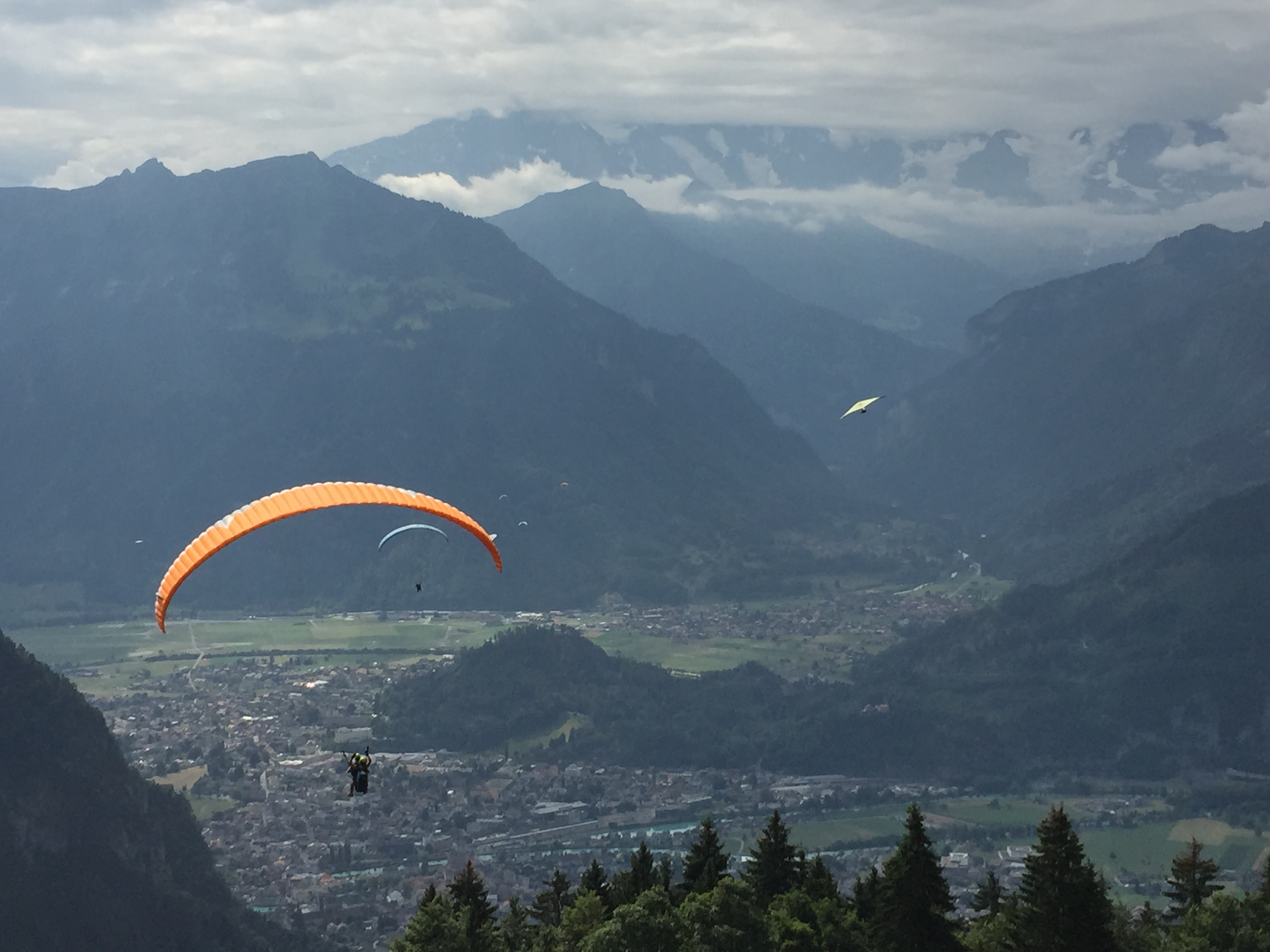Watching other paragliders take off 2