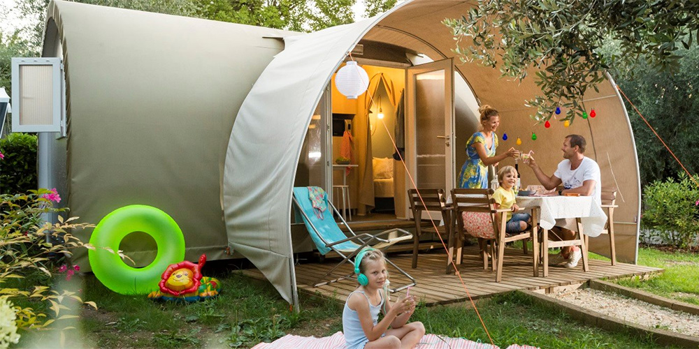 Glamping in French Alps