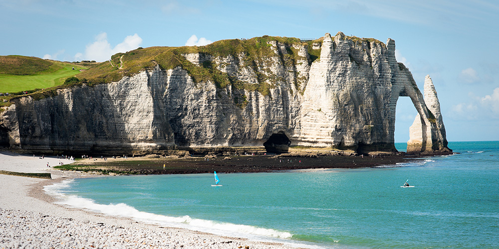 Normandy's white cliffs