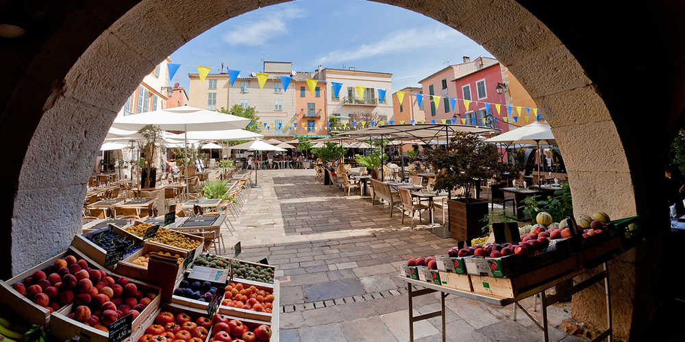 market in the south of france