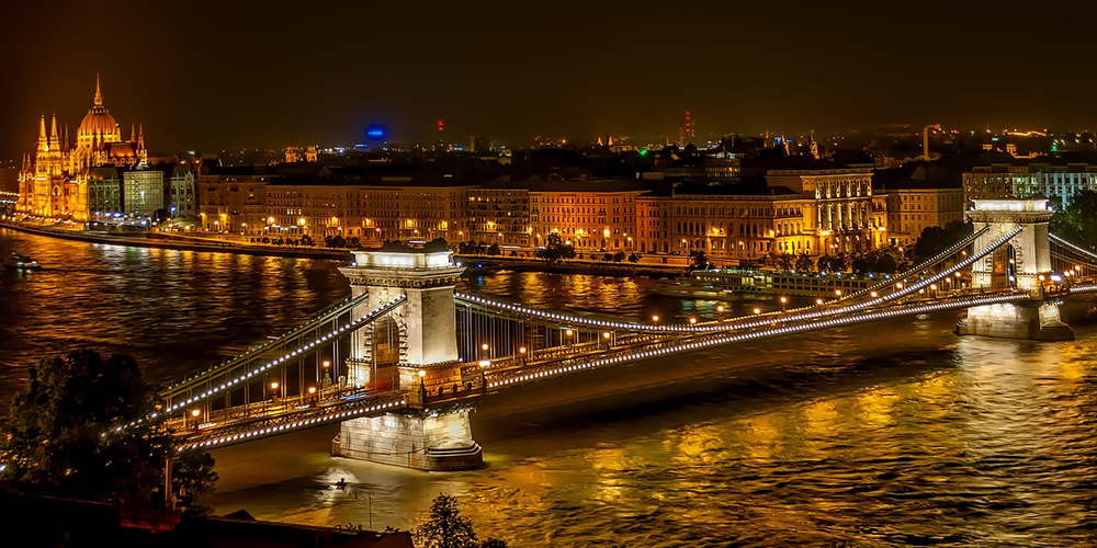 Budapest in the night