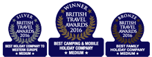 Winnaar van de British Travel Award
