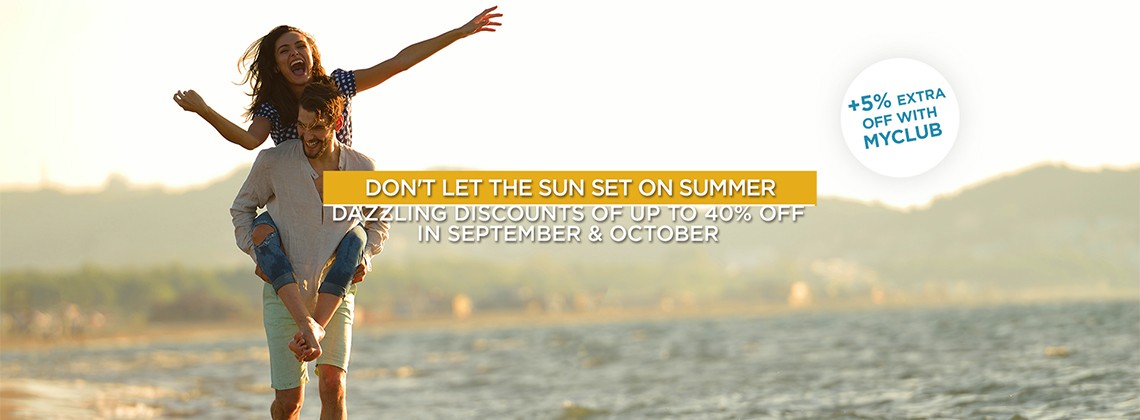 September Holidays - Save Up To 40%